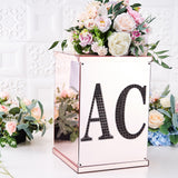 8 inch Black Self-Adhesive Rhinestone Letter Stickers, Alphabet Stickers for DIY Crafts - N