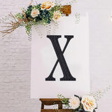 "8"" Black Self-Adhesive Rhinestone Letter Stickers, Alphabet Stickers for DIY Crafts - X"