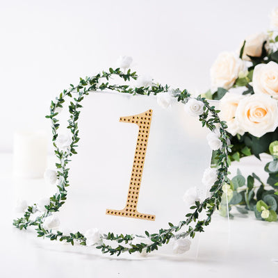 "8"" Gold Self-Adhesive Rhinestone Number Stickers for DIY Crafts - 1"