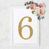 8inch Gold Self-Adhesive Rhinestone Number Stickers for DIY Crafts - 6