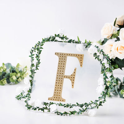 "8"" Gold Self-Adhesive Rhinestone Letter Stickers, Alphabet Stickers for DIY Crafts - F"