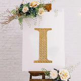 "8"" Gold Self-Adhesive Rhinestone Letter Stickers, Alphabet Stickers for DIY Crafts - I"