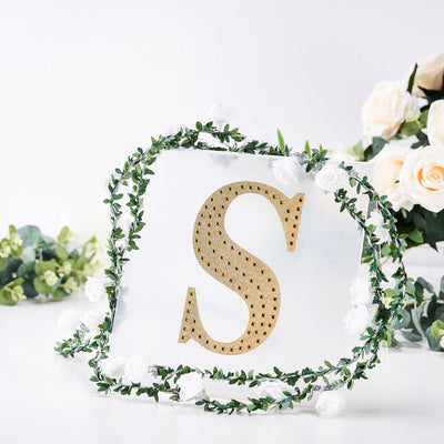 8inch Gold Self-Adhesive Rhinestone Letter Stickers, Alphabet Stickers for DIY Crafts - S