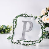 8 Inch | Silver Self-Adhesive Rhinestone Letter Stickers, Alphabet Stickers for DIY Crafts - P
