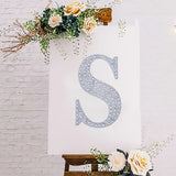 "8"" Silver Self-Adhesive Rhinestone Letter Stickers, Alphabet Stickers for DIY Crafts - S"