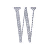 "8"" Silver Self-Adhesive Rhinestone Letter Stickers, Alphabet Stickers for DIY Crafts - W"
