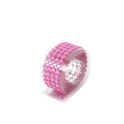 3 FT Hot Pink Stick on Rhinestone Tape | DIY Self Adhesive Diamond Rhinestone Stickers