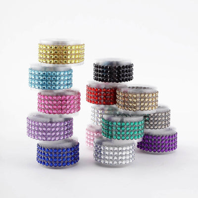 3 FT Iridescent Stick on Rhinestone Tape | DIY Self Adhesive Diamond Rhinestone Stickers