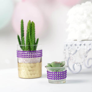 3 FT Purple Stick on Rhinestone Tape | DIY Self Adhesive Diamond Rhinestone Stickers