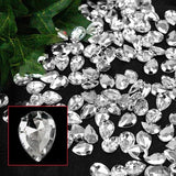 470 Pcs Clear Pear Diamond Rhinestones  For Table Vase Gift DIY Decoration