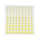 594 Pcs Self Adhesive Multi-sized Yellow Rhinestone DIY Stickers