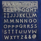 240 Pcs Self Adhesive Clear Letter Diamond Rhinestone DIY Stickers