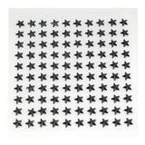 600 Pcs Self Adhesive Black Diamond Rhinestone Star Shaped DIY Stickers