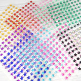 600 Pcs Self Adhesive Gold Diamond Rhinestone Star Shaped DIY Stickers