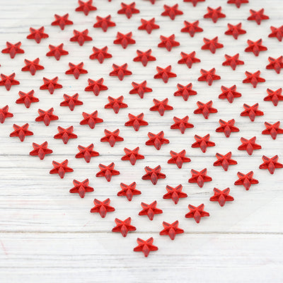 600 Pcs Self Adhesive Red Diamond Rhinestone Star Shaped DIY Stickers