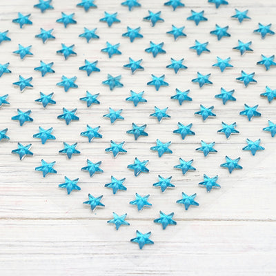 600 Pack | Turquoise Heart Design Self Adhesive Diamond Rhinestone DIY Stickers