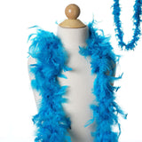 Lush Chandelle Turkey Boas - Turquoise 2 Yards  50gram