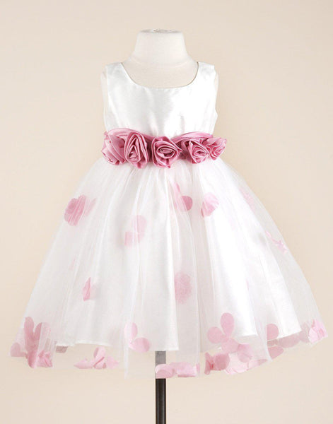 cf14bf9d289 Compelling White Satin and Net Tulle Flower Girl Dress Party Dress Special  Occasion Dress