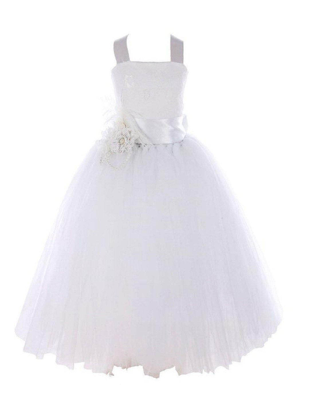 Fairy Tutu Flower Girl Dress White Tablecloths Factory