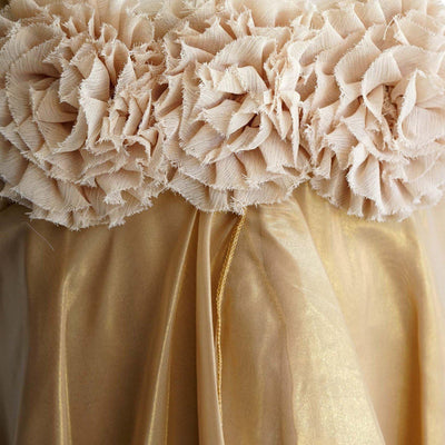 Shimmery Chiffon Flower Girl Dress Dress Gold Party Dress Special Occasion Dress