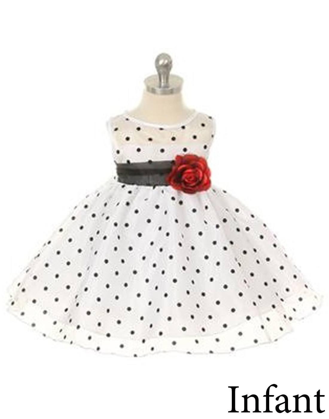 e7fa579b73c6 ... Flower Girl Dress Polka Dot Organza Overlay Dress with Organza  SashWhite Party Dress Special Occasion Dress