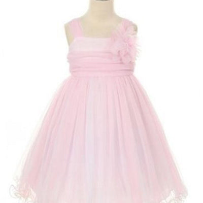 Compelling Mesh and Taffeta Overlay Dress - Pink