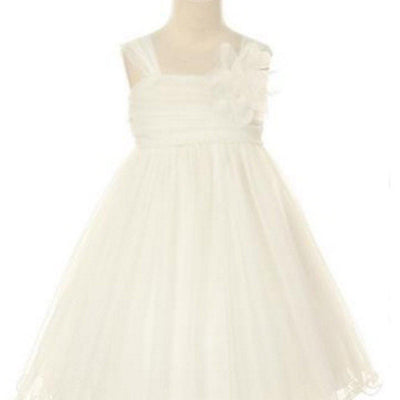 Compelling Mesh and Taffeta Overlay Dress - White