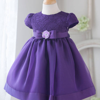 Flower Girl Dress Attractive Lace and Mirror Organza Wedding Dress Purp Party Dress Special Occasion Dress