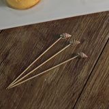 Natural Bamboo Skewers Cocktail Picks with Shell Top | Cocktail Sticks | Tablecloths Factory