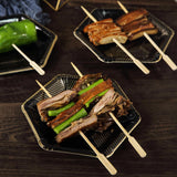 "100 Pack | 10"" Eco-Friendly Paddle Bamboo Skewers Cocktail Picks 