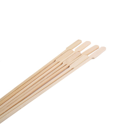 100 Pack | Natural Paddle Bamboo Skewers Cocktail Picks | Cocktail Sticks | Tablecloths Factory
