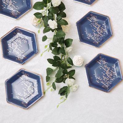 "25 Pack | 8.5"" 350 GSM Navy 
