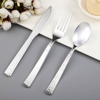Hammered Design Plastic Knife, Plastic Silverware