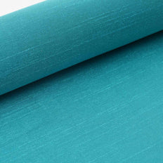 12 Inch x 10 Yards Turquoise Premium Slub Polyester Fabric Bolt | TableclothsFactory