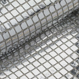 "35"" x 10 Yards Silver Metallic Foil Disco Ball Mirror Fabric By The Roll"