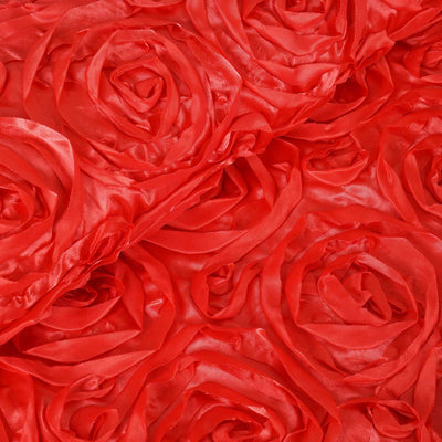 "54"" X 4 Yards Coral Satin Rosette Fabric by the Roll"