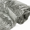 54 Inch x 4 Yards | Silver Wave Satin Fabric Bolt | TableclothsFactory