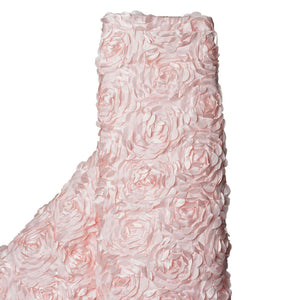 "BLUSH Wholesale Flower Rosette 3D Satin Fabric Bolt By Yard Wedding Event Party Decoration - 54""x4 Yards"