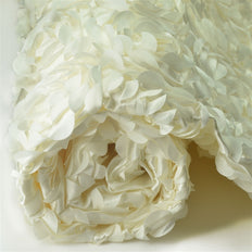 "CHAMPAGNE Wholesale Flower Rosette 3D Satin Fabric Bolt By Yard Wedding Event Party Decoration - 54""x4 Yards"