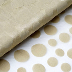 "Groovy Velvet Dots on Organza Fabric Dress Bolt - Champagne- 54""x10 Yards"