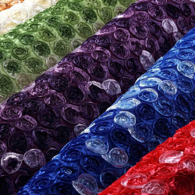"Grandiose Mini Rosette Multi Shade Fabric Bolt For Wedding Party Event Decoration - Black - 54""x4 Yards"