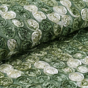 "Grandiose Mini Rosette Multi Shade Fabric Bolt For Wedding Party Event Decoration - Willow Green - 54""x4 Yards"