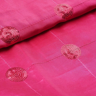 "Taffeta Sequin Fabric Bolt - 54"" x 5yards Fushia"