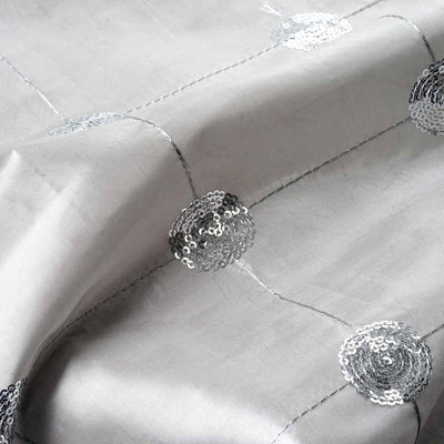 "Taffeta Sequin Fabric Bolt - 54"" x 5yards Silver"