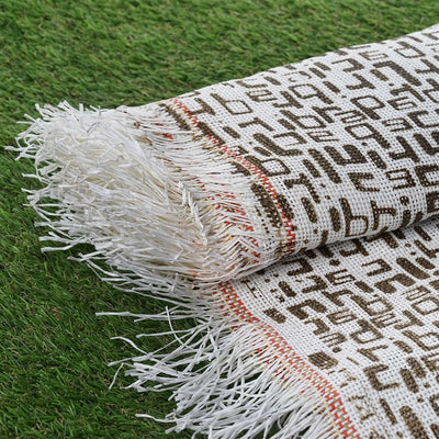 "Premium Raffia Picnic Party Upholstery Fabric Bolt - CHOCOLATE / IVORY - 54"" x 4 Yards"