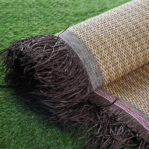 "54"" x 4 Yards Natural Eco-Friendly Woven Upholstery Raffia Fabric By the Yard"