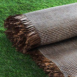 "54"" x 4 Yards Chocolate/Natural Eco-Friendly Woven Upholstery Raffia Fabric By the Yard"