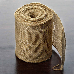 5 Inch x 10 Yards | Chambury Casa Natural Jute Burlap Fabric Rolls | TableclothsFactory
