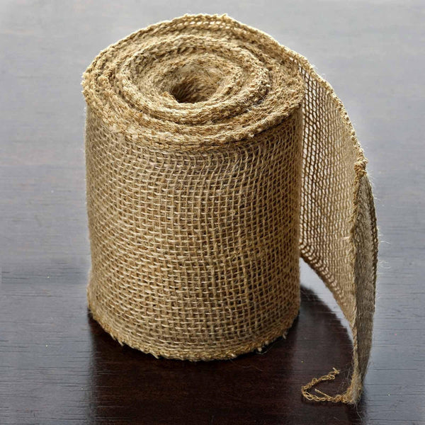 "5""x10 Yards Chambury Casa Natural Jute Burlap Fabric Rolls"
