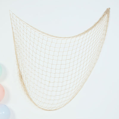 5Ft x 5Ft Natural Cotton Decorative Fishing Net, Rustic Beach Decor